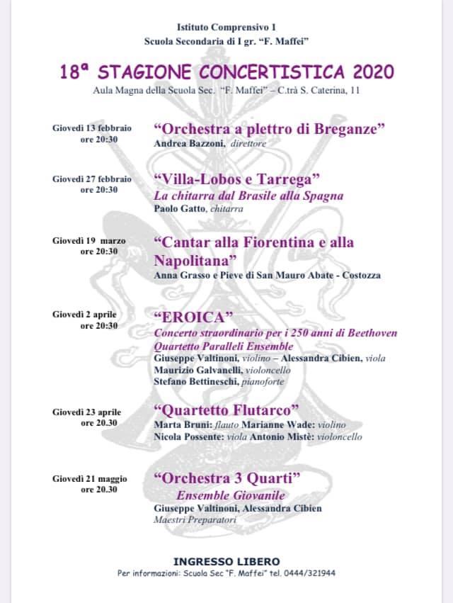 Opb - Locandina Scuola Maffei 13 Febbraio 2020